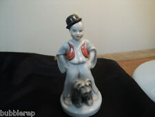 """Auth. HEREND*- Figurine   """"HUNGARIAN BOY with DOG  # 5483"""