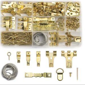 Az@d Angel 220 Pcs Assorted Picture Hooks Heavy Duty Picture Hanging Kit 5 Sizes
