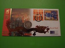 ROYAL MINT 1997 HONG KONG HANDOVER BU 5 FIVE DOLLARS COIN COVER PNC