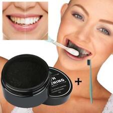 KIT Dentifrice poudre Charbon Actif Naturel Blanchiment dentaire + Brosse à dent