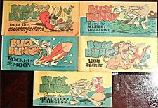 QUAKER PUFFED RICE RARE GIVEAWAY PROMO MINI CEREAL BUGS BUNNY COMPLETE SET A VF