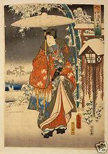 Repro Japanese Print F-ry-gengi yuki no nagame by Toyokuni