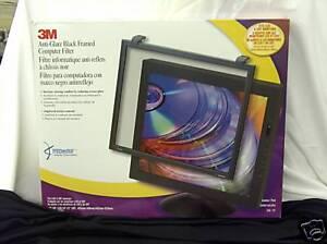 3M EF 200XXLB Anti Glare Flat Frame Monitor Filter fits 19 to 21 inch screens