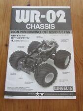 Tamiya WR02/WR-02 (Wheelie) Instruction Manual.
