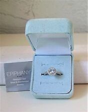 Epiphany Platinum-Clad Silver & Diamonique Ring 2.05 Ct TW  Size 6. NiB.