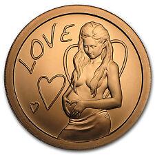 2016 1 oz Copper Round - Love