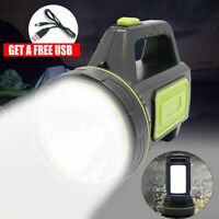 3000LM USB Waterproof Rechargeable Searchlight Camping Spotlight Lamp Flashlight