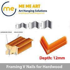 500 x Picture Framing Nails Mitre V nails wedges 12mm for Hardwood