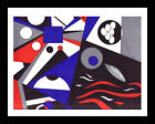 """All Original Art - Geometric Abstract with Many Shapes - Title """"Molecules"""""""