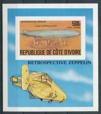 283929) Elfenbeinküste Block 8B** ungezähnt !!! Zeppeline