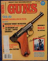 Magazine GUNS July, 1986 Russia TOZ 49 Target 7.62mm REVOLVER, JOVINO Terminator