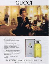PUBLICITE ADVERTISING 094 1989 GUCCI N°3 une griffe un parfum