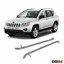 Running Boards Side Steps Nerf Bars Stainless Steel For Jeep Compass 2011-2017
