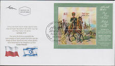 Israel FDC 2009 Polish Year Souvenir Sheet First Day Cover Nice Cachet!|