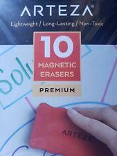 Arteza Magnetic Dry Erase Board Foam Erasers Set Of 10 Ergonomic Shape With Th