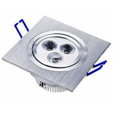 2X 3W 230V Spot LED Encastrable Carré Plafonnier Plafond Lumière Ampoule Blanc