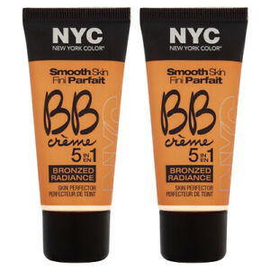 2-Pack NYC Smooth Skin BB Cream 5-in-1 Skin Perfector Bronzed Radiance 004 Light