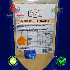 MACA root powder (organic, raw) HIGHEST QUALITY  - high grade superfood - 100g