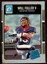 2016 Donruss Optic Will Fuller Silver Holo RC #200 Houston Texans SP Rookie Card