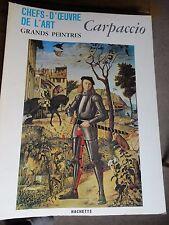 Carpaccio art book grands peintres chef-d'oeuvre de l'art Carpaccio 105 livre