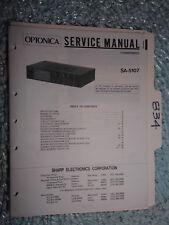Optonica Sharp SA-5107 service manual original repair book stereo receiver tuner