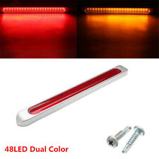 12-24V Dual Color 48LED Car SUV Flowing LED Brake Light Strip Tail Stopping Lamp