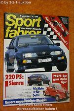 Sportfahrer 6/87 FMR TG 500 BMW 735i Mazda 323 4WD