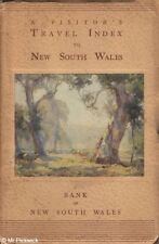 A VISITOR'S TRAVEL INDEX TO NEW SOUTH WALES 1938 1st Ed. SC Book