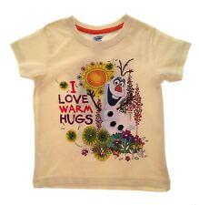 BNWT Girls Disney Frozen Lemon Olaf T shirt age 7-8 years 100% cotton Summer