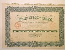 1927 ACTION ELECTRO GAZ
