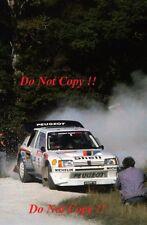 Juha Kankkunen Peugeot 205 Turbo 16 E2 Rally of New Zealand 1986 Photograph 3