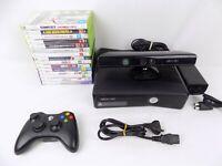Xbox 360 Slim S 250gb Console (Wi-fi) + Controller + 15x Games + Kinect Camera