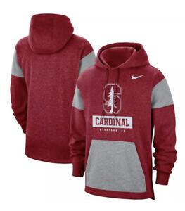 Nike Stanford Cardinal Fan Pullover Hoodie Red/Grey CT7786-698 Mens Sz M