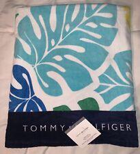 "Tommy Hilfiger Palm Leaf Multi-Color Beach Towel (Large 35x66"") 100% Cotton, NEW"