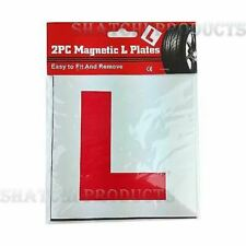 2 x Genuine Car Fully Magnetic Learner Driver L Plates Secure Quick Easy To Fix