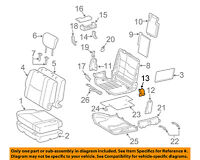 Toyota 72124-60050-B0 Seat Track Bracket Cover