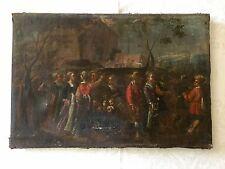Huile Sur Toile, Scène De Mariage, Ecole Hollandaise 17ème siècle