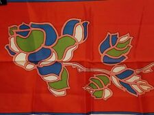 Vintage All Acetate Scarf - beautiful flowers floral design