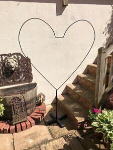 HUGE 6FTX4FT METAL HEART SHAPE PROP/WEDDING/BIRTHDAY/VALENTINE/SHOP/OPENING