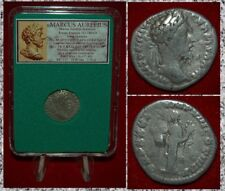 Ancient Roman Empire Coin MARCUS AURELIUS Hilaritas On Reverse Silver Denarius