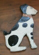 """Vintage Handpainted Wooden Cut-out of Dalmatian 8"""" Tall"""