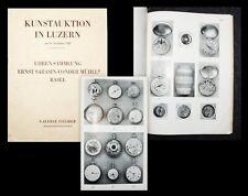 1948 Uhren Uhren-Sammlung Ernst Sarasin von der Mühll Katalog