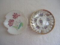 "Vintage Lot Of 2 Small Ceramic Candy / Nut Dishes "" BEAUTIFUL COLLECTIBLE LOT """