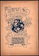 Calendrier. Grasset. Pour le magasin Le Bon Marché 1886. Avant la lettre.