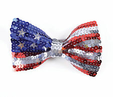 ADULT AMERICAN USA SEQUIN BOW TIE FANCY DRESS ACCESSORY