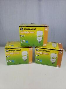 3 GE Energy Smart T3 Spiral Bulb 6-Pack 20 Watt/75 Watt Equivalent READ