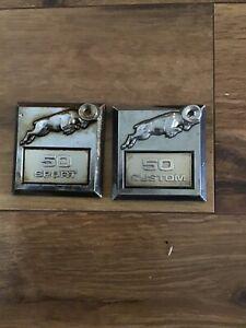 Original OEM Dodge Ram 50 Custom Sport Ornament Emblem Badges