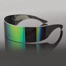 Back To The Future Inspired Costume Sci-Fi Futuristic Wrap Visor Sunglasses