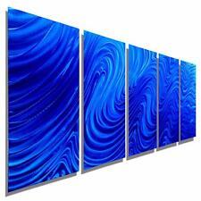Blue Contemporary Metal Wall Art Large Abstract Wall Sculpture Decor - Jon Allen