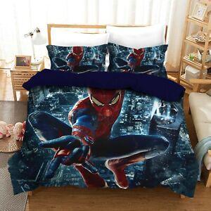 Spiderman Quilt/Duvet/Doona Cover Set Single Double Queen King Size
